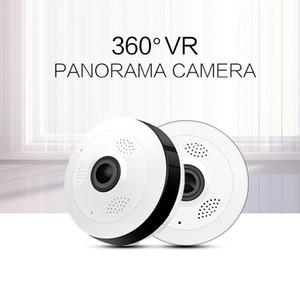 Caméra de surveillance panoramique 360 degrés fisheye wifi réseau hd caméra sans fil montre maison artefact