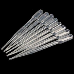 Оптово-100шт Доступное Пипетки градуированные капельницы полиэтиленовые (3 мл) Promotion! 100PCS Пипетки градуированные Dropper полиэтилен (3 мл)