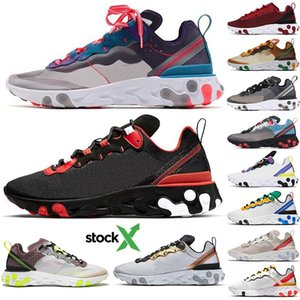 2020 React Element 55 UNDERCOVER 87 Running Shoes Team Red Orbit Bred Tour Green Epic Designer Sports Sneakers Runner Trainer With Stock X