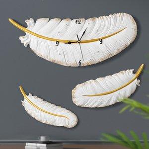 Resina Leather Relógio de parede Silencioso Modern Design Wedding Escritório Decoração Sala de Estar Relógio criativo parede relógio Home Decor T200601