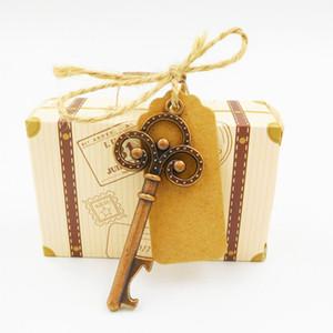 Geschenkbox mit Schlüssel Flaschenöffner Souvenirs Hochzeit Gefälligkeiten und Geschenken Candy Box Party DIY Dekoration Zubehör