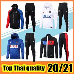 20120/21 Psg Football Chándal Paris Germain chaqueta de chándal de jogging fútbol Mbappé 20/21 PSG Jordán survetement maillot de pie traje de entrenamiento de fútbol