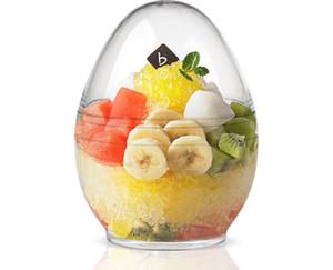 Dessert Plastic tumbler chiara d'uovo forma di ghiaccio scatole coppe alla crema di tiramisù torte semifreddo tuffo gelati e biscotti