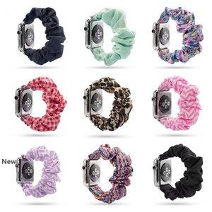 Watch Bands Elastic Printed Fabric Watchband Scrunchies 39 Style Glitter Fabric Bracelets Fashion Watch Belts Straps HHA995