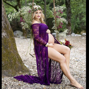Gebelik Elbise Fotoğrafçılık Dikmeler Elbiseler için ateş Fotoğraf Hamile Kadınlar Premama Vestido İçin Maxi Elbise Elbiseler Hamile Giyim