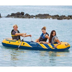 Intex Challenger 3 Conjunto barco inflable con remos y bomba de 68370NP tablas de surf