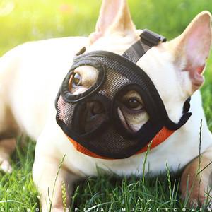 Máscara hocico del perro para el perro de nylon de la corteza de malla transpirable Bozal mascota cómodo ajustable Nuevo diseño de la seguridad Perros Bozales para los animales domésticos