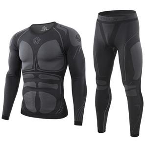Los nuevos hombres calientes ropa interior térmica de invierno juegos de los deportes al aire libre Long Johns Linner ropa de entrenamiento táctico Ciclismo hombres Johns largo T200415