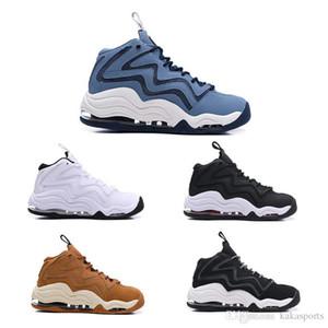 2019 Zapatos Scottie Pippen 1 Uptempo 94 OG trigo de trabajo azul extenso gris de los deportes de baloncesto buena calidad Negro Azul Blanco para hombre de las zapatillas de deporte 7-12