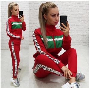 2020 Frauen Kleidung Frauen Sport Anzug Pullover Kapuzen-Pants 2 zwei Stück Frauen-Set Outfit der beiläufigen Frauen Trainingsanzüge sweatsuits Kleidung