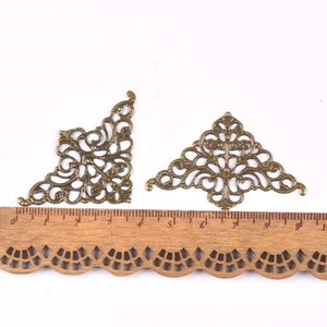 10Pcs Filigree Flower Wraps Antique Bronze Metal Crafts Connectors For DIY Embellishments Scrapbooking Craft Accessories Ykl0727 Other Decor