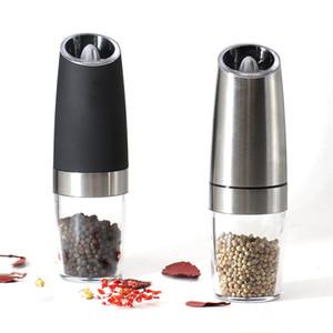 Automatique électrique Moulin à poivre et sel Moulin à LED Peper Spice Grain Mills Porcelaine Grinding Mill cuisine Outils de base