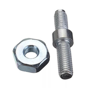 M7 Double Threaded Screw Studs with Hard Steel Hex Nuts for Stihl Chain Saw