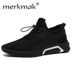 Merkmak Marka 2019 Yeni Casual Sneakers Erkek Nefes Rahat Mesh Erkekler Ayakkabı Moda Elastik bant Yürüyüş Yumuşak Ayakkabılar