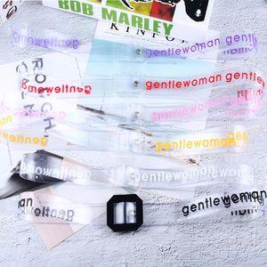 Mulheres Moda Transparente Carta de plástico fivela Belts Casual personalidade criativa menina Cintura para jeans Pants Marca