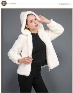 Faux lapin Rex cheveux en fausse fourrure de vison Toison Mao Mao Veste Hat Short Femme T191101 de