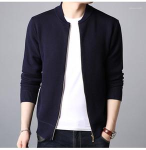Mens Designer Collets en V Neck Sweat Zipper Mode Pure Color manches longues Cardigan Tricoté Sweats à capuche pour hommes Vêtements décontractés