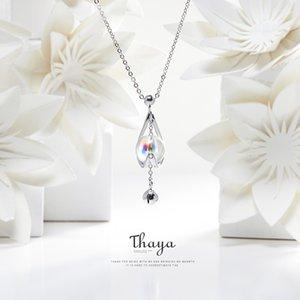 Thaya Unique Style Water Drop Colar de Prata 925 Cor contas de colar para meninas Especial CX200609 presente
