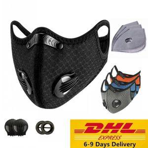 DHL de deporte de la mascarilla PM2.5 Ciclismo máscara anti-polvo Anti-Contaminación Efecto Filtro de carbón activado 95% MTB Ciclismo cara