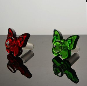 Colorful Thick butterfly Smoke pot Bowls Glass Adapter Male 14.4mm 18.8mm Adapter for Glass Bongs Glass Water Pipes