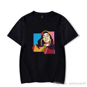 Estilos rapero periférica camiseta multicolor opcional Variedad cuello de equipo de manga corta de la ropa de moda Cardi B Femenino