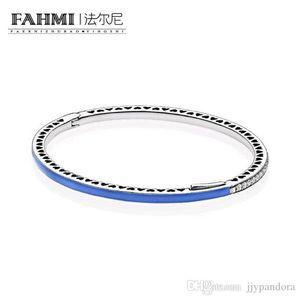 WPENNYI 100% de plata esterlina 925 1: 1 pulsera básico original auténtico encanto 590537EN82 adecuados joyería de bricolaje con cuentas Mujeres