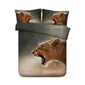 3D Snowflake Leopard-Druck-Bettwäsche Bettbezug-Set mit pillowcase, Mikrofaser Tröster Cover, Reißverschluss, NO Quilt 3PCS