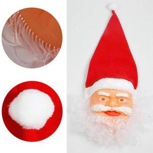şapka Beanies Masquerade Partisi Komik Cosplay Tam Yüz bıyık maskeler Noel Oyuncak Dekorasyon LJJA3405 Maske cap ile Noel Baba Noel Maske