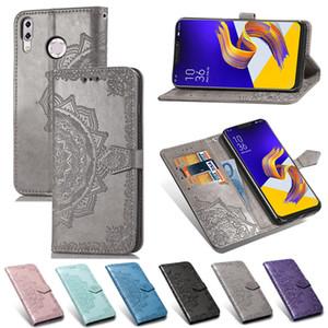 Für ZenFone 5Z ZS620KL Telefon Caseing PU-Leder Datura Blumen Oberfläche mit Mappen-Karten-Slots Geldtasche Handschlaufe (Modell: ZS620KL)