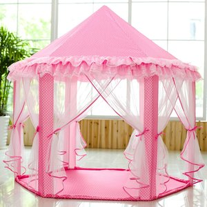 SkyeyArc принцесса палатка с металлическим каркасом, принцесса замок Play Палатка, Pink Палатка Принцессы Playhouse, Детские палатки, отлично подходит для девочек.