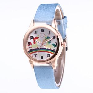 New Cartoon Unicorn Kinder Persönlichkeit Gurt-Uhr-Mode Einfache Lady Love Uhren Hot Geschenke hot Geschenke 2019