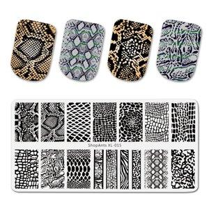 Stainless Steel 6 * 12cm Nail Stamping Plate Snake Skin Image Natural Pattern Principle Printing Nail Art Stamp Templates الجملة
