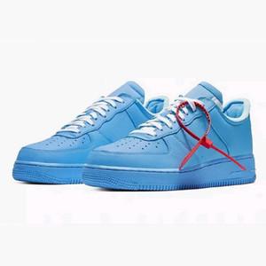 2020 MCA Forças Universidade de Chicago azuis Running Shoes Moda Mens Womans 1 Trainers Designer Sports Basketball Sneakers Tamanho 36-45