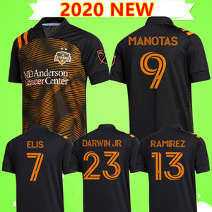 2020 2021 Houston Soccer Jerseys Dynamo Elis Ramirez Manotas 20 21 ml de football Chemise Home Orange Black Uniforms