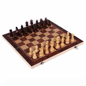 New Design 3 in 1 Wooden International Chess Set Board Travel Games Chess Backgammon Draughts Entertainment
