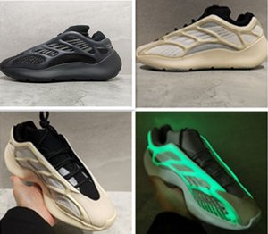 Kanye West 700V3 Alvah Azael Branco Skelet Luminous Grey Homens Mulheres Running Shoes brilham no escuro Athoetic Sports Sneakers