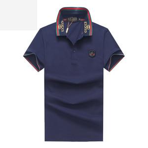 BROWON Summer Fashion 2019 Mens magliette Estate in cotone T shirt manica corta da uomo Gira-giù stile coreano uomini della maglietta collare