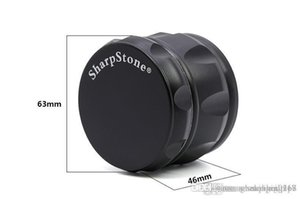 colorful New Style 63mm Zinc Alloy Grinder Metal Tobacco Crusher 4 Parts Diamond Shape Side Concave Herb Grinder
