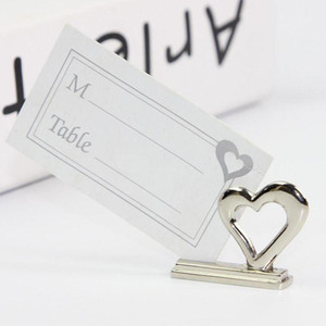 Love Place Card Holder with Blank Card Heart Shaped Table Card Holder Romantic Wedding Party Favor