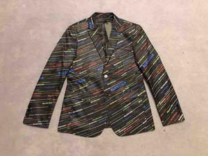 2019 de haute qualité Mens costumes de costume Blazer Italie Paris lettres imprimer luxe Sweat à capuche noir Hommes Femmes tag Nouveau mariage Windbreaker