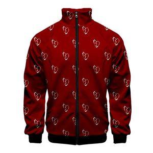 Mens Juice Wrld Hoddies 3D Print Cargigan Long Sleeve Zipper Stand Collar Hip Hop Homme Clothing Fashion Style Casual Apparel