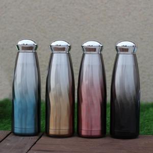 زجاجة 350ML المياه كوب السفر زجاجة مزدوجة الجدار الصلب المقاوم للصدأ معزول كولا زجاجات التدرج البهلوانات الرياضة DHL WX9-1804