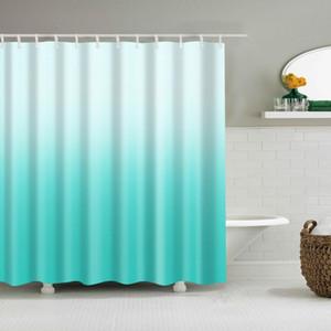 180x180cm Shower Curtain w 12 Hooks Bathroom Accessory Home Decoration