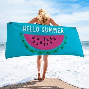 Hawaiian ins style bath towel new summer fruit series beach yoga outdoor towel creative printing sunscreen shawl quick-drying towel YJX0001