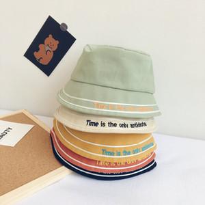 Ruili del tutto-fiammifero Lettera ricamato bambini Cappello Pescatore Primavera E L'estate di nuovo modo di Childrens piano Top Hat Sun