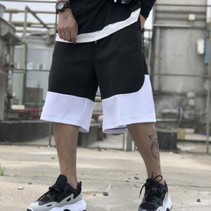 adidas ADIDAS ad mens del progettista di pallacanestro degli uomini Pantaloni corti a righe patchwork pantaloni casual uomini di sport lettera marca di marea di stampa