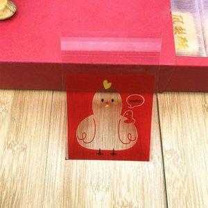 Cute Chicken Baking Biscuit Bag Creative Animal Gift Bags Evento Decoración de fiestas Bolsas de embalaje de plástico