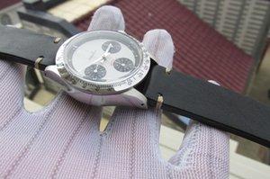 37mm Paulman NEWMAN 6239 6263 VINTAGE cronógrafo exótico mostradores mecânicos mão manual de enrolamento dos homens relógio Ref.6239 PAULNEWMAN chrono relógio de pulso