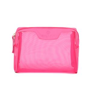 Designer-Handtasche Multifunktionstasche Cosmetic Bag Plain Art und Weise reizender Personality Silk Schirm PU Brief aushöhlen Frauen-Beutel