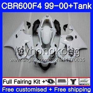 Cuerpo + tanque para HONDA CBR600 F4 CBR 600 F4 FS CBR600 F 4 287HM.8 CBR600F4 99 00 CBR600FS CBR 600F4 1999 2000 Fairings Dragon kit de luz blanca